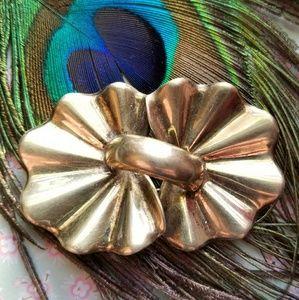 Vintage Monet Sterling Silver vermeil gold brooch
